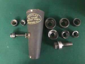 Greenlee 735bb Ball Bearing Knockout Punch Set 1 2 To 1 1 4 In Leather Case