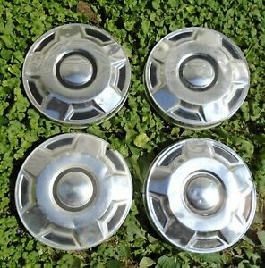 1978 1991 Ford Econoline E150 Van 10 5 Hubcaps Poverty Dog Dish Wheels Set 4
