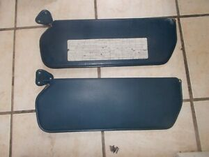 Chevy gmc Truck Sun Visor Set Blue Color 73 87