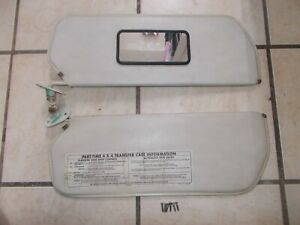 73 87 Chevrolet Gmc Truck C10 C20 K10 K20 Sun Visor Off White Color Pair
