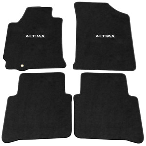 For 07 12 Nissan Altima Sedan Floor Mats Carpet Front Rear Black W Altima