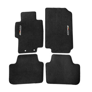 For 04 08 Acura Tsx Floor Mats Carpets Front Rear Nylon Black W Mugen