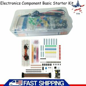 Us Electronics Component Basic Starter Kit W 830 Tie points Breadboard Resistor