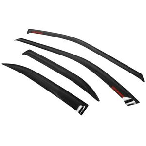 Fits 94 97 Accord 4dr Rain Sun Window Visors Deflectors Vent Shade W Red Sticke