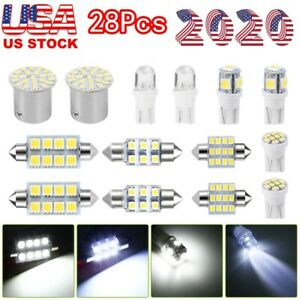 28pcs Car Auto Interior Led Lights Dome License Plate Mixed Lamp Accessories Usa
