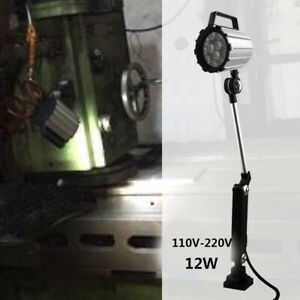12w Cnc Machine Led Lamp Screw Mounting 100 200lm w For Small Machine Tools