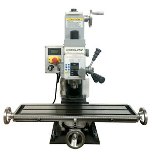 Rcog 25v Precision Mill drill Bench Top Mill And Drilling Machine 110v