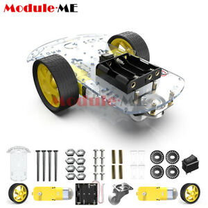 2wd Smart Robot Car Chassis Kit Arduino 2 Motor 1 48 Speed Encoder Battery Box