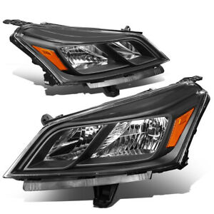 For 2013 2017 Chevy Traverse Black Amber Signal Oe Style Headlight Left right
