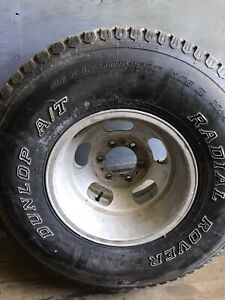 6 Lug Aluminum Wheels And Tires For Chevy Pickup And Have One Extra Tire