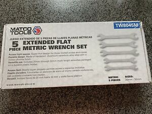 Matco Tools 5 Piece Extended Flat Metric Wrench Set Tw8045m