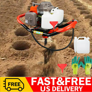 72cc Earth Auger 3hp Gas Powered Two Man Post Hole Digger Machine