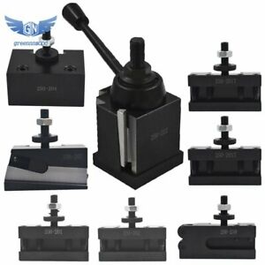 Bxa 250 222 Wedge Type Tool Post For Lathe 10 15 With 7pc Tool Holders