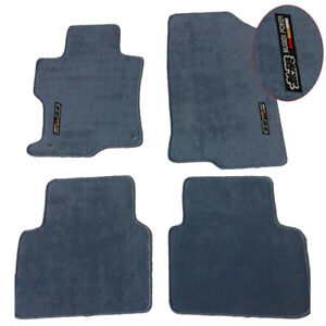 For 08 12 Honda Accord Floor Mats Carpet Front Rear Nylon Gray W Mugen