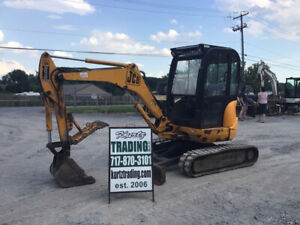 2006 Jcb 8032 Hydraulic Mini Excavator W Cab Thumb Only 2300hrs