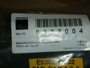 Trumpf 0377004 0123676 Activated Carbon Adsorb Compressed Air Filter Element New
