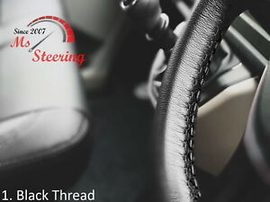 For Mg Mga Mgc Mgb 15 Black Leather Steering Wheel Cover Diff Stitch