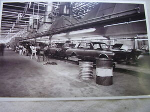 1963 1964 Plymouth Valiant On Assembly Line 11 X 17 Photo Picture