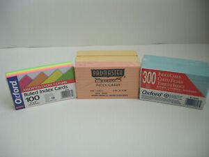 Oxford 3 X 5 Ruled Index Cards Neon Assorted Colors 7 Packs