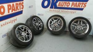 02 Chevy Corvette C5 Z06 Oem Chrome Wheel Set