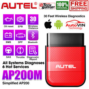 Autel Ap200m Bluetooth All System Diagnostic Scanner Obd2 Code Reader Thinkdiag