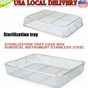 Surgical Instrument Sterilization Basket Mesh Tray Stainless Steel Instrument Us