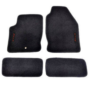 For 00 07 Ford Focus Floor Mats Carpets Front Rear Nylon Black W Red Focus