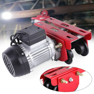 200w 1102lbs Electric Hoist Lift Trolley Overhead Winch Crane Powered 110v Sale