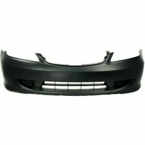 New Front Bumper Cover Primed For Honda Civic 2004 2005 Ho1000216