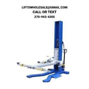 New 6 000 Lbs Mobile Low Profile Single column Automotive Lift