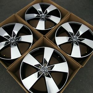 Oem Factory Volvo S60 S80 V60 19 Inch Wheels Rims Set Of 4 Machined Black