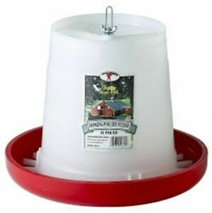 Poultry Chicken 11 Pound Hanging Feeder Plastic Feed Saver