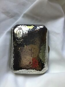 Sterling Art Nouveau Hand Hammered Cigarette Case By Webster Company 2 1 2 X3