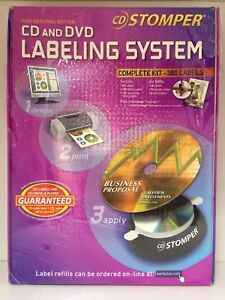 Stomper Professional Edition Cd dvd Labeling System Complete Kit 380 Labels Nip