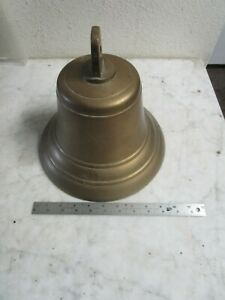 Vtg Antique 1930 S Large 10 5 Inch Brass Ships Bell W Original Clacker Nice
