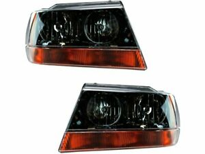 Headlight Assembly Set For 1999 2004 Jeep Grand Cherokee 2001 2002 2003 N663rt