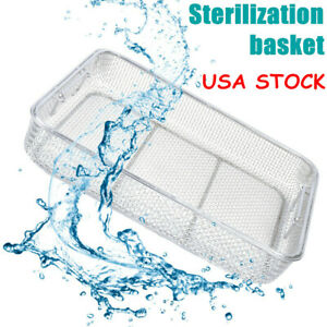 Sterilization Tray Case Box Surgical Instrument Stainless Steel 40 30 7cm Hot