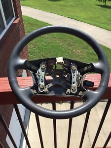 1997 2001 Toyota Camry Gray Wrapped Leather Steering Wheel With Cruise Control