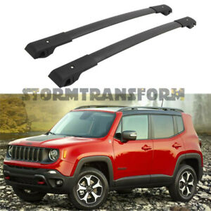 Us Stock Cross Bar For Jeep Renegade 2015 2021 Cargo Luggage Roof Rack Durable