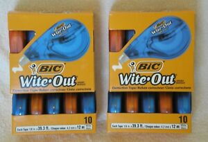Bic Wite out Correction Tape Two 10 Packs