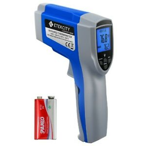 Digital Laser Infrared Thermometer Temperature Gun Noncontact Dual Laser Adjusts