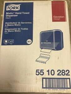 Tork 55 10 282 Elevation Matic Hand Towel Roll Dispenser Black New