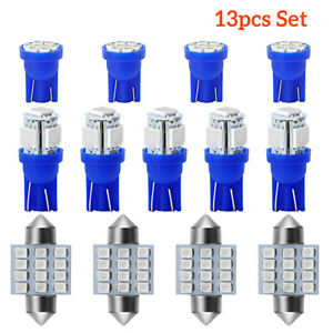 13x Blue Lights Auto Car Interior Led Dome License Plate Lamp 12v 8k