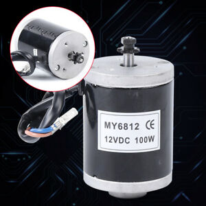 High Speed Brushed Motor For Scooter small Electric Motorcycle 12 V 24v 100 150w