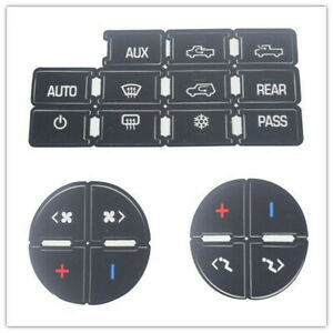 Universal Ac Button Repair Parts Decal Stickers For 2007 2014 Chevy Gmc Trucks