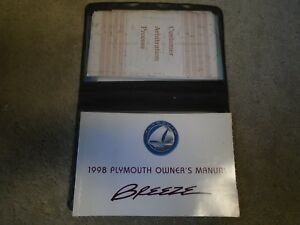 1998 Plymouth Breeze Factory Owners Manual Guide Case