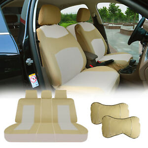 Full Car Seat Covers Semi custom Front Rear For Toyota Tacoma 2010 2020tan