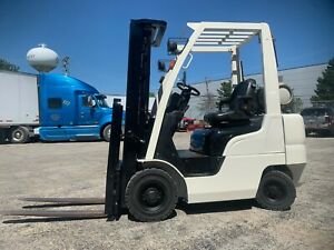 2014 Nissan 4000lb Low Usage Pneumatic Forklift lpg lifts 15 Feet we Will Ship