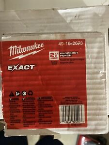 Milwaukee Exact 2 1 2 Knockout Punch 49 16 2673 New In Bx