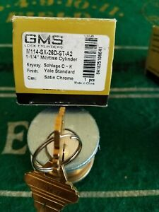 Gms 1 1 4 mortise Lock Cylinders Sc 1 Schlage Keyway 2 W 4 Matched Keys